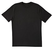 istock Blank Black T-Shirt Front with Clipping Path. 483960103