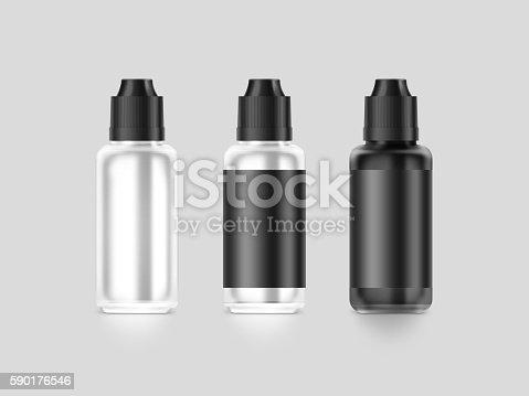 880947556 istock photo Blank black vape liquid bottle mockup isolated, clipping path, 590176546