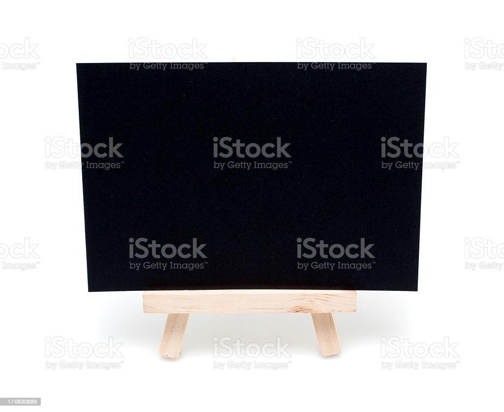 Blank Blackboard isolated on white background royalty-free stock photo