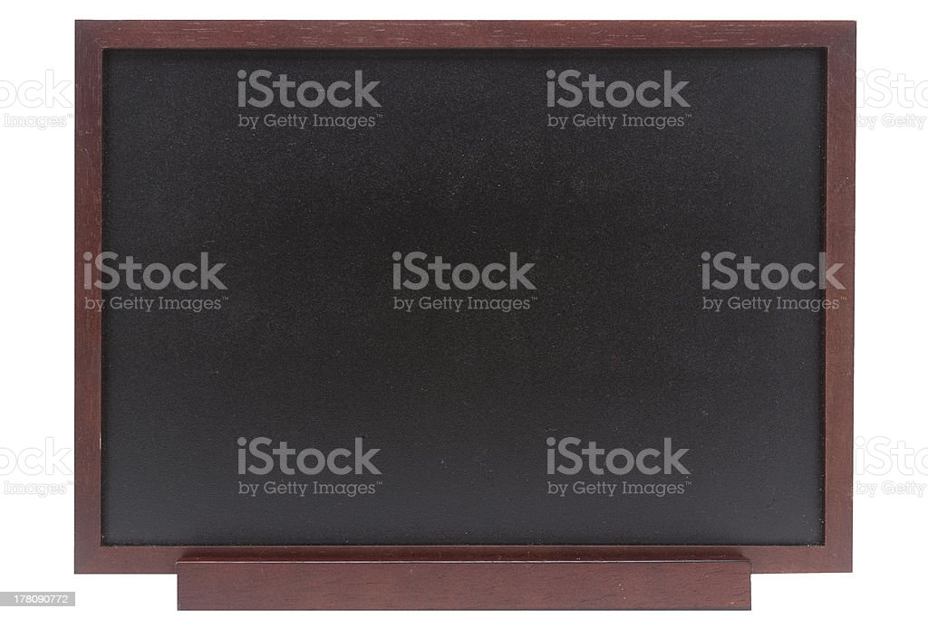 blank blackboard on a white background with work path royalty-free stock photo