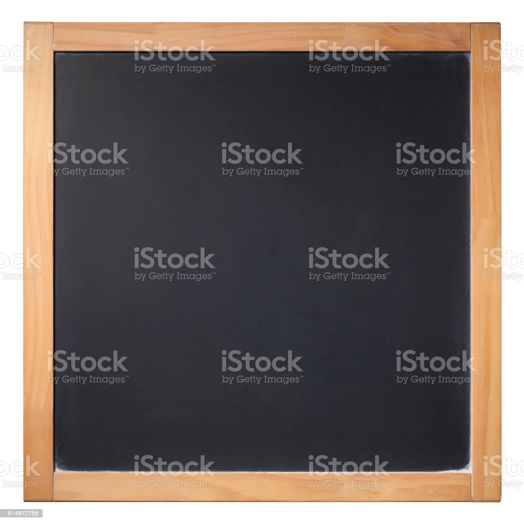 Blank blackboard on white background. Photo with clipping path. stock photo
