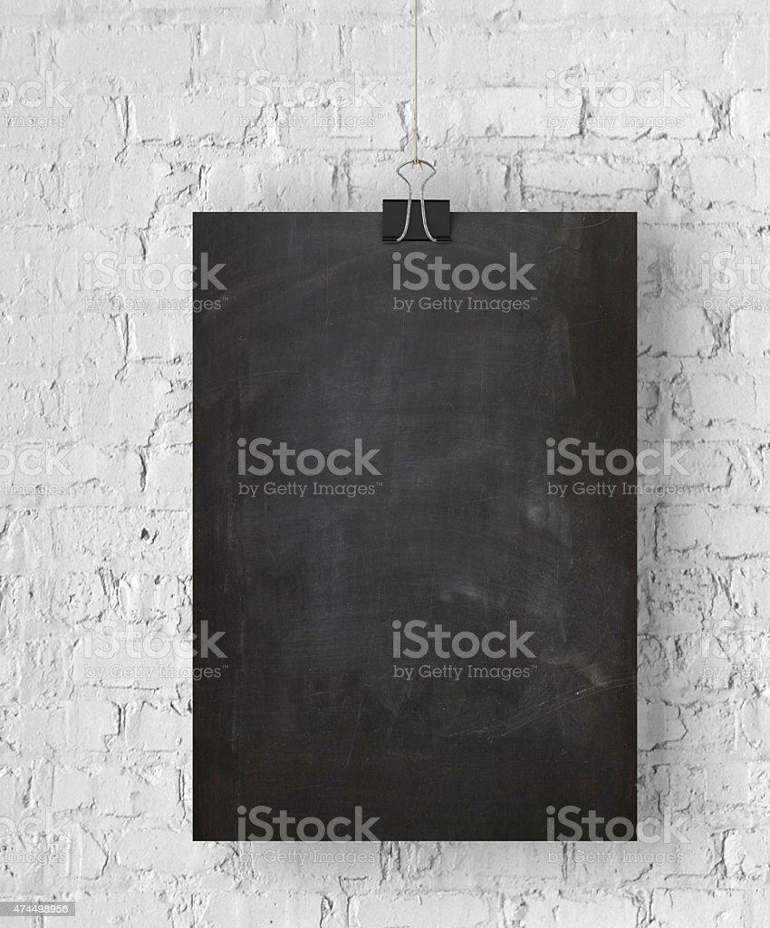 Blank blackboard poster stock photo