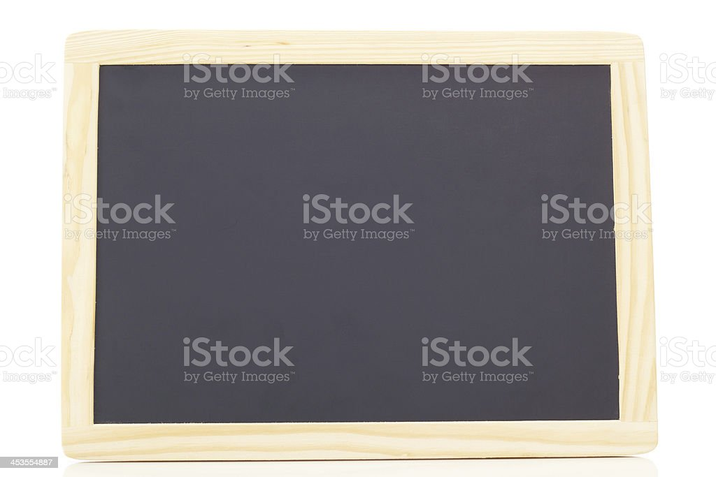 Blank blackboard with free space for your text stock photo