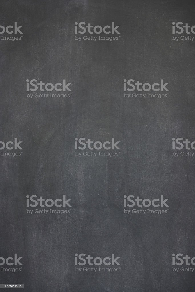 Blank blackboard with signs of heavy wear stock photo