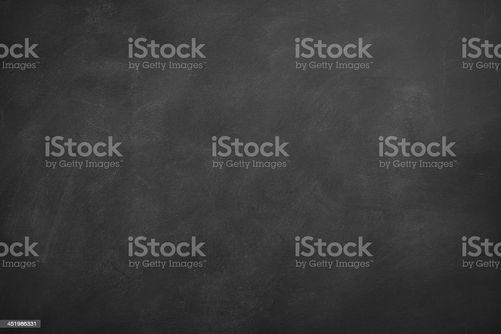 Blank blackboard with traces of erased chalk​​​ foto