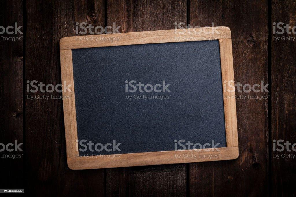Tableau vide dans cadre en bois - Photo