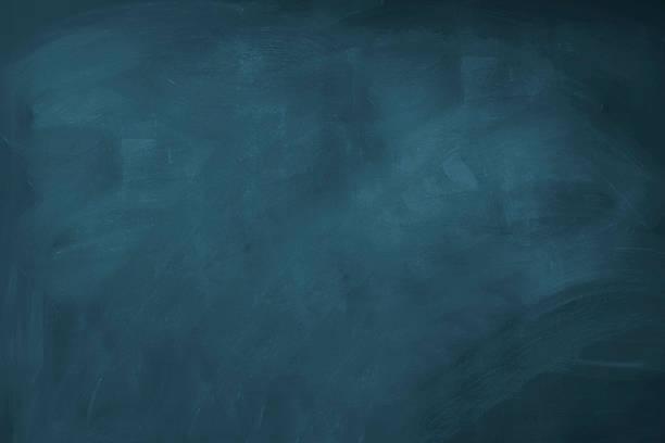 Blank blue chalkboard stock photo