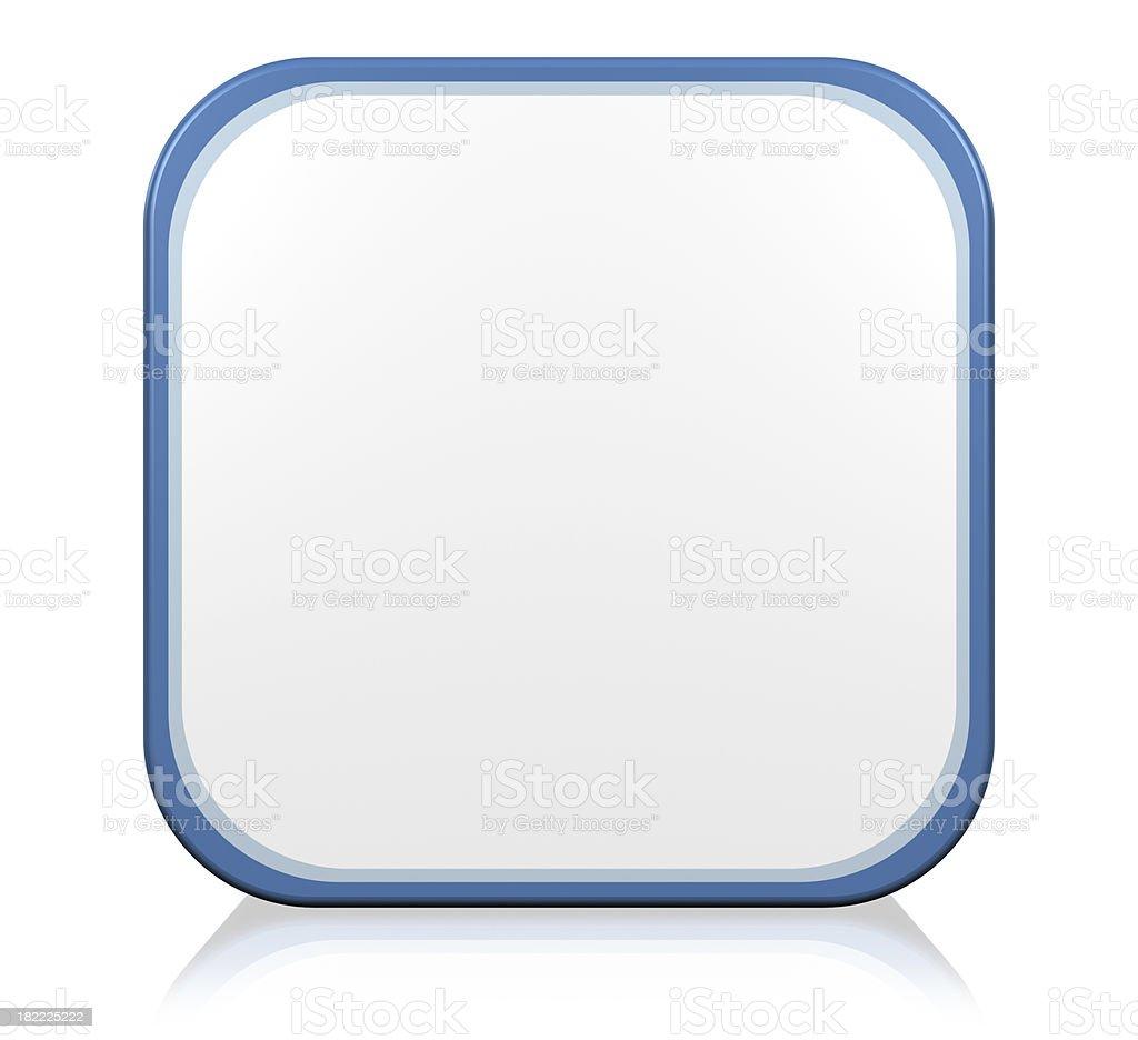 Blank blue icon royalty-free stock photo