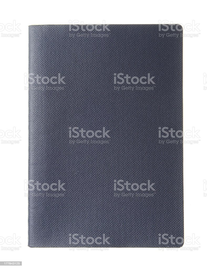 Blank blue passport stock photo