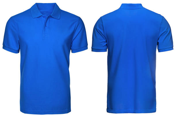 royalty free silhouette of blue polo shirt design template