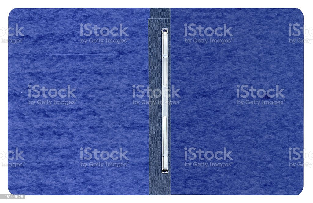 Blank Blue Pressboard Report Cover royalty-free stock photo