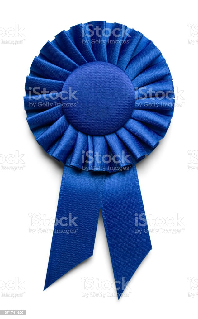 Blank Blue Ribbon stock photo