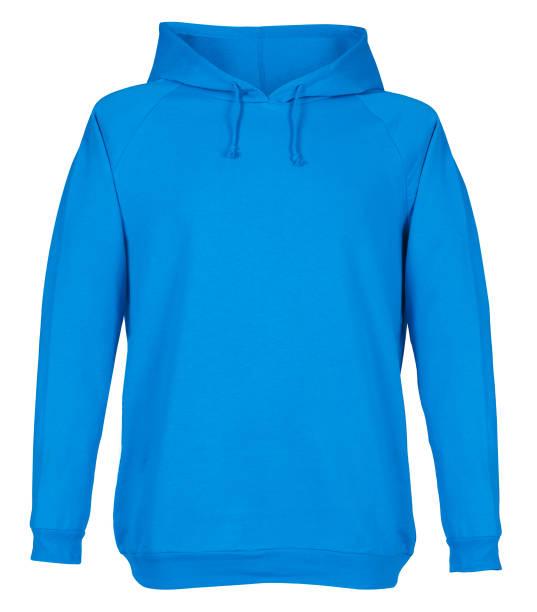 Blank blue sweatshirt mockup stock photo