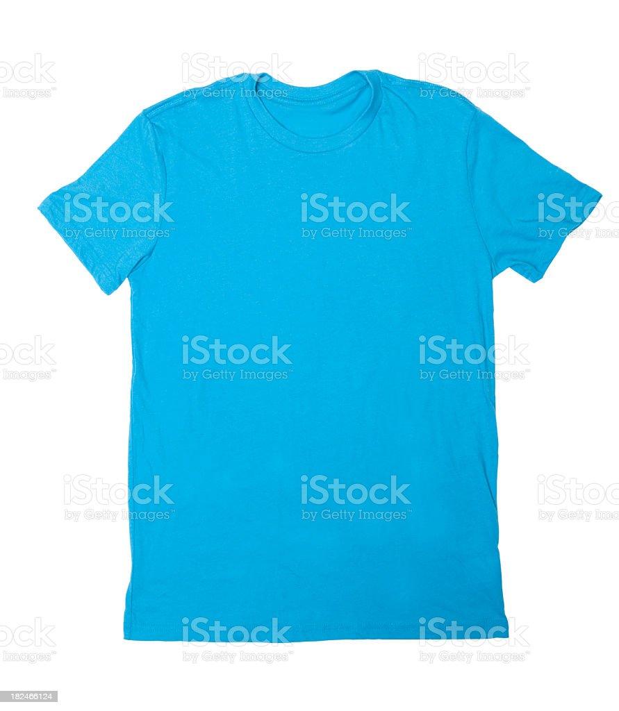 Blank Blue T-Shirt stock photo