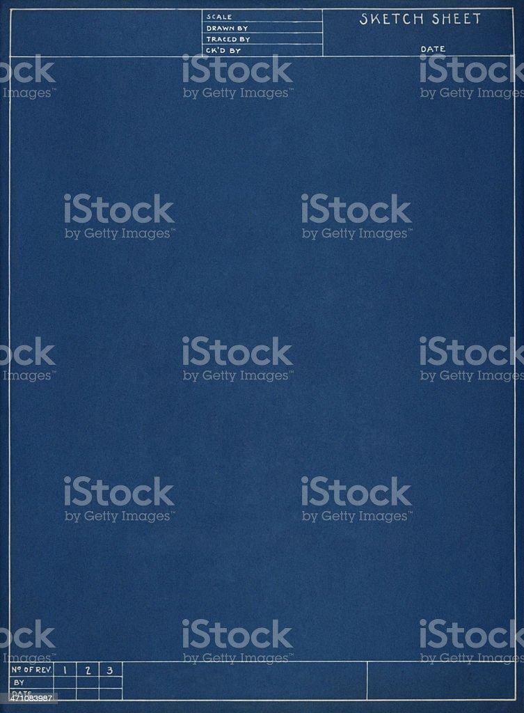 Blank Blueprint Background Stock Photo