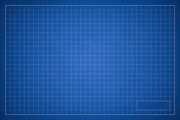 Blank Blueprint Grid Background stock photo
