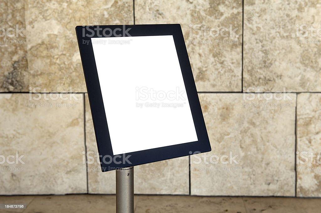 Blank board royalty-free stock photo