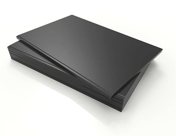 leeren buch cover schwarz, isoliert auf weiss - planner inserts stock-fotos und bilder