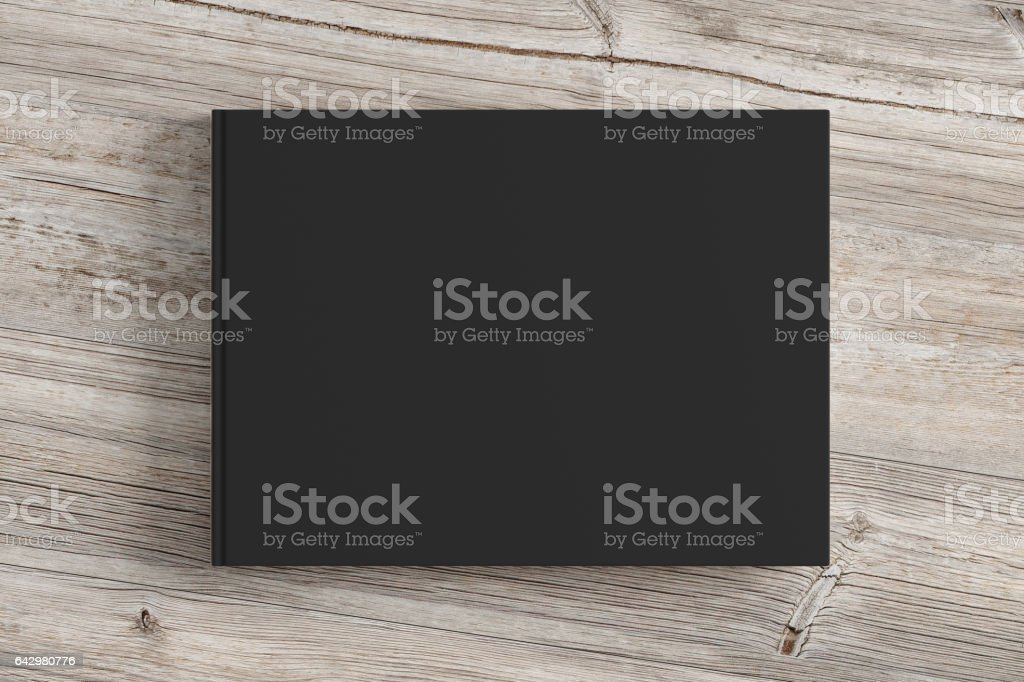 Blank book cover isolated on background stock photo