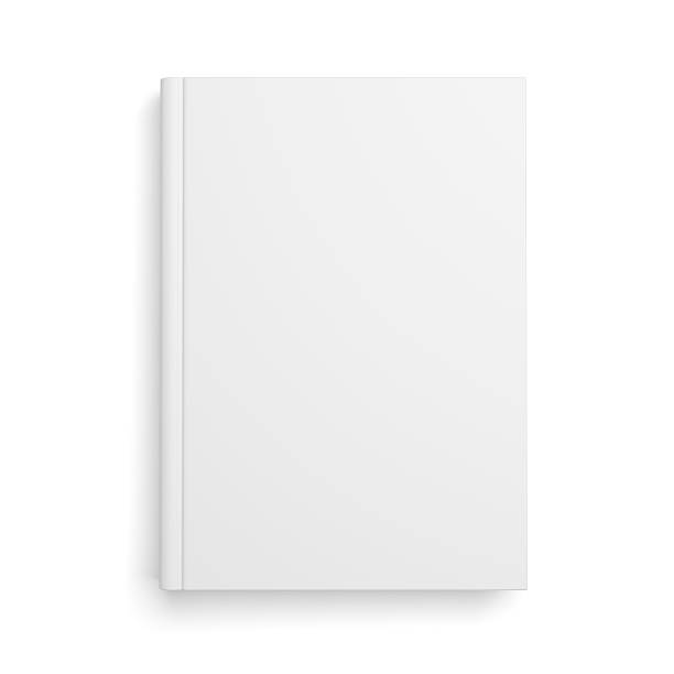 Blank book cover isolated on white Blank book cover isolated over white background with shadow hardcover book stock pictures, royalty-free photos & images