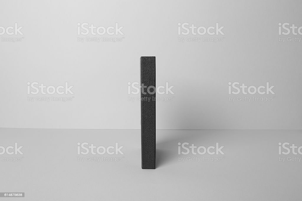 Blank Book Cover Mockup stock photo