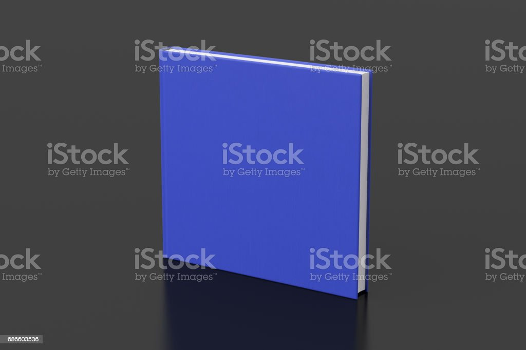 Blank book cover mockup royalty-free stock photo