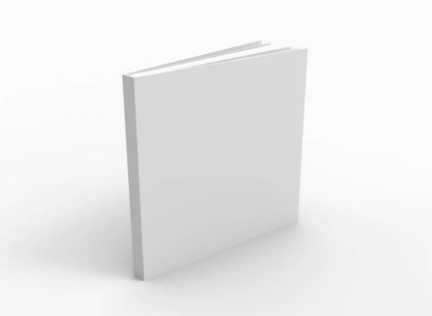 blank book cover over white background - modello dimostrativo foto e immagini stock