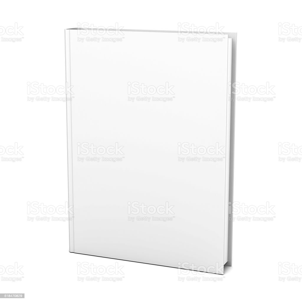 Blank book cover stock photo