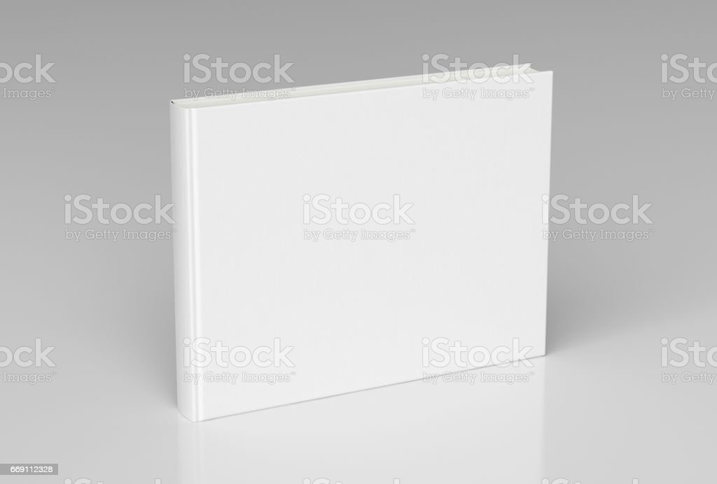 Blank book cover standing stock photo