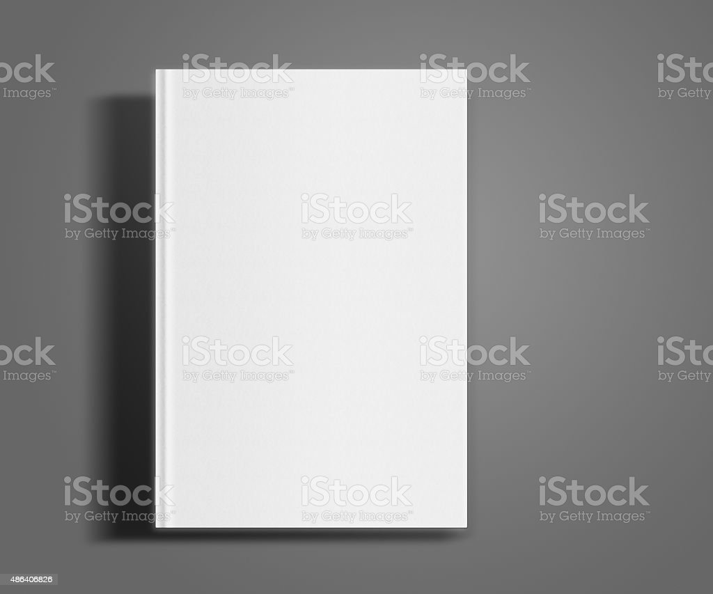 Blank book cover template. stock photo