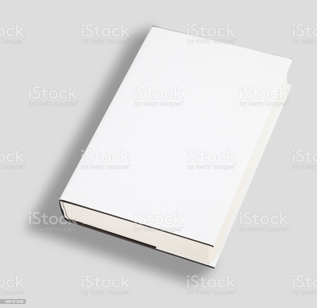 Blank book cover w clipping path stock photo
