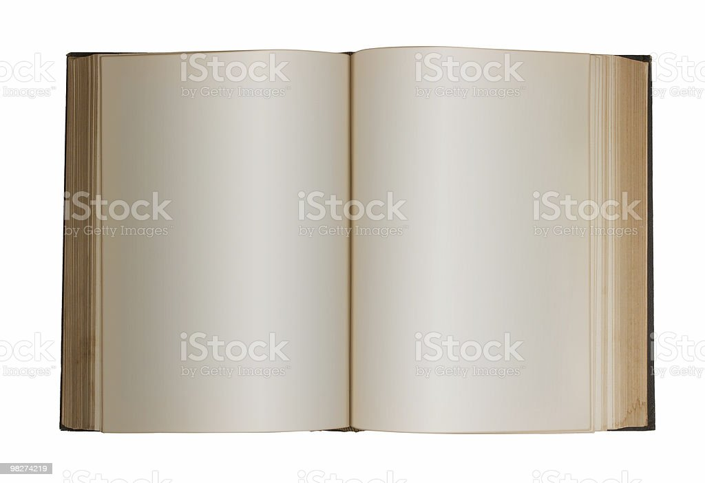 Blank Book, Isolated royalty-free stock photo