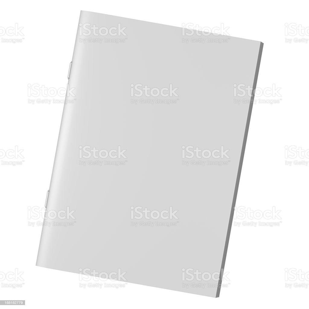 Blank book Magazine Brochure royalty-free stock photo
