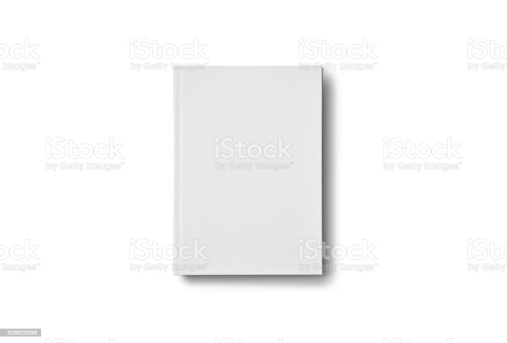 Blank Book mockup isolated on white. stock photo