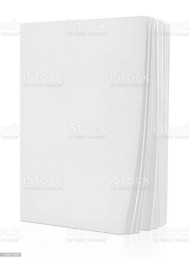 Blank book on white stock photo