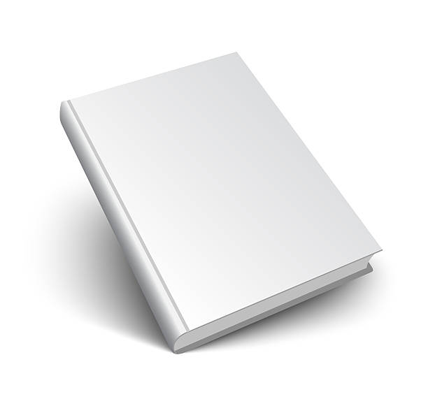 blank book on white Blank book mockup with shadow isolated on white. 3d illustration. hardcover book stock pictures, royalty-free photos & images