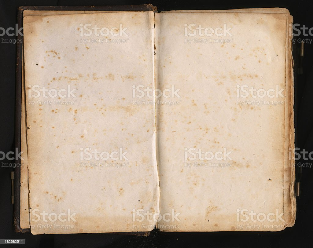 Blank Book Pages from Early 1800's royalty-free stock photo