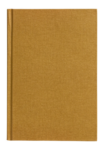 Blank Book on white background.