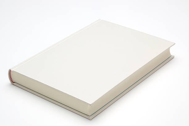 Blank Book Blank Book on white background hardcover book stock pictures, royalty-free photos & images