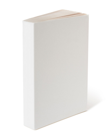 Blank Book on white.