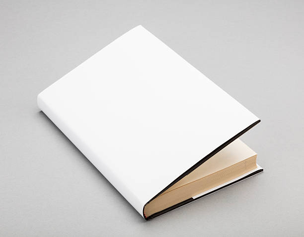 Blank book white cover 5,5 x 8 in stock photo