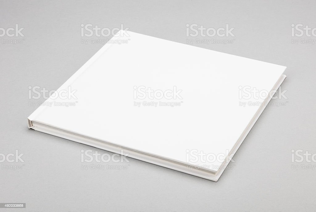 Blank book white cover 8,5 x 8,5 in stock photo