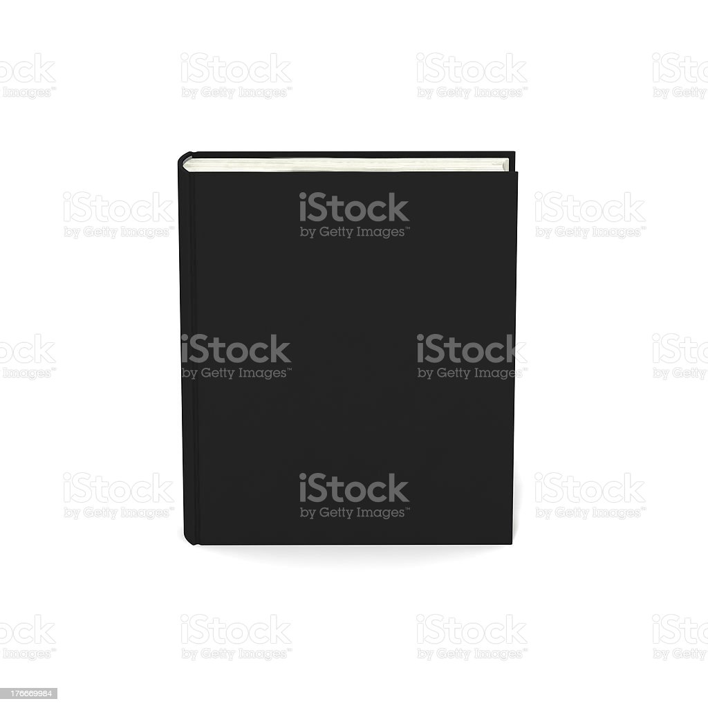 Blank book with black cover on white background. royalty-free stock photo