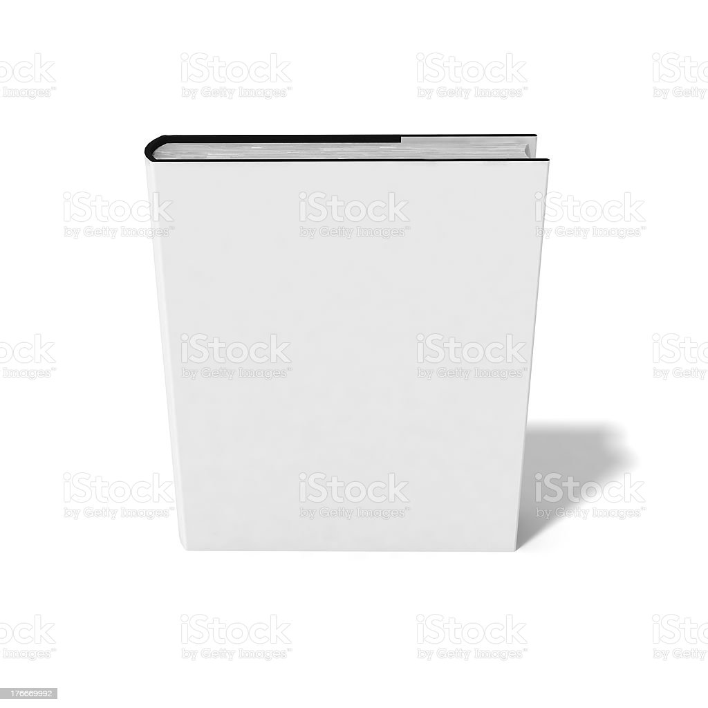 Blank book with white cover royalty-free stock photo
