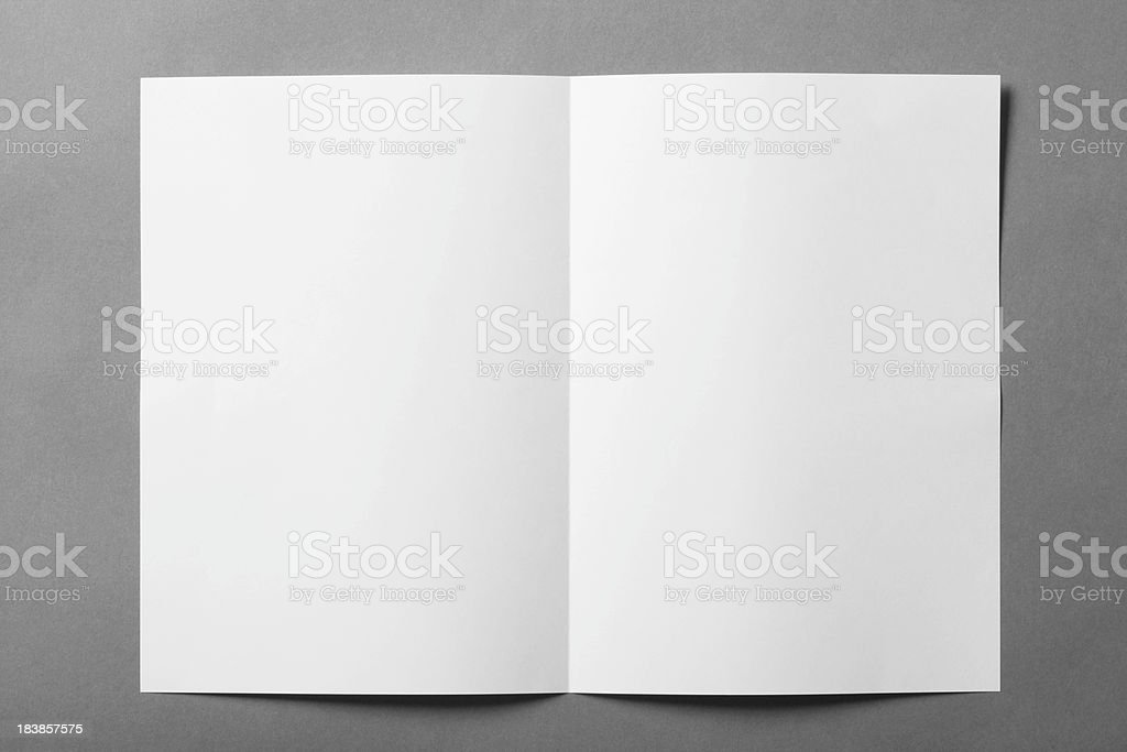 Blank booklet stock photo