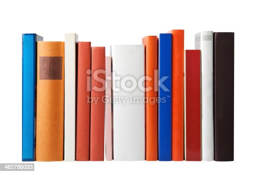 Blank books isolated on white (clipping path)