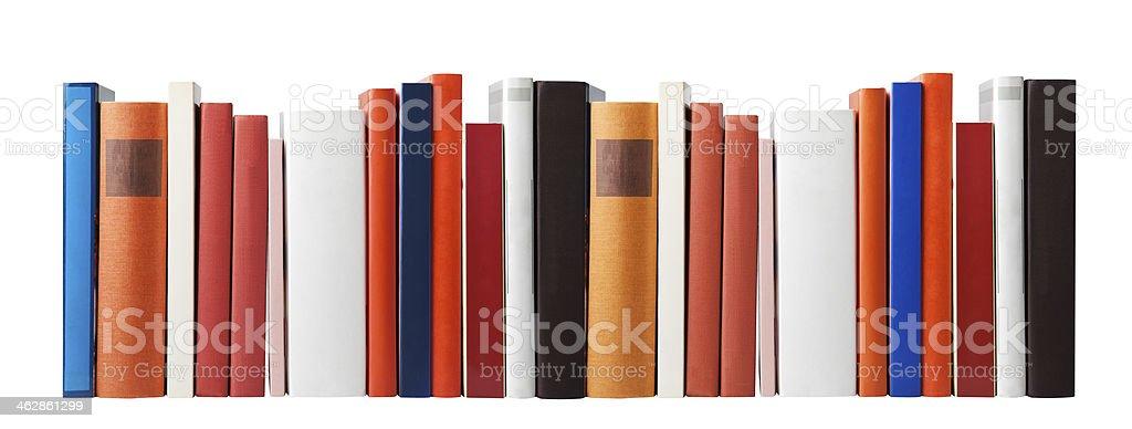 Blank books on white stock photo