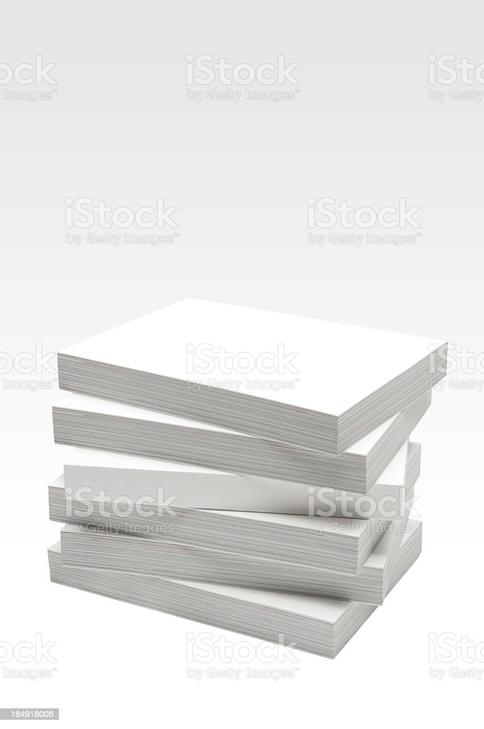 Blank books stock photo