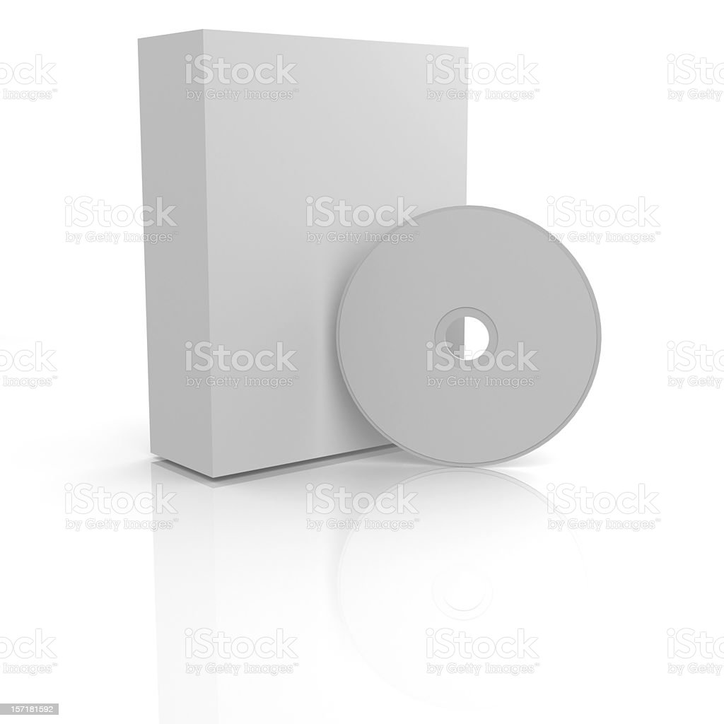 Blank Box and CD software royalty-free stock photo