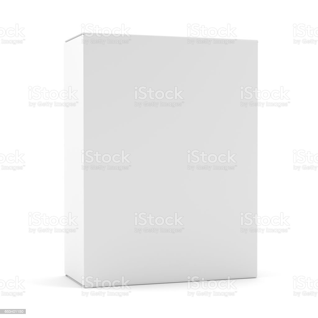 Blank box isolated over white background stock photo